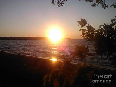 Photograph - Lakeside Sunset by Jessi and James Gault