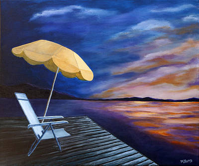 Painting - Lakeside Sunset by Michelle Joseph-Long