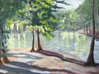 Painting - Lakeside Trail by Gretchen Allen