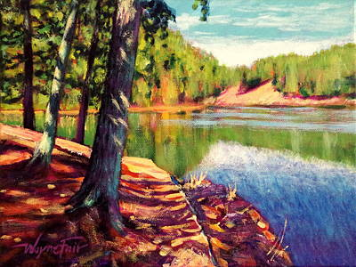 Lakeside Tuscaloosa Art Print by Wayne Fair