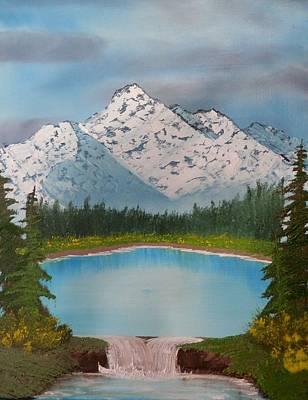 Lakeside Waterfall Art Print by Jared Swanson
