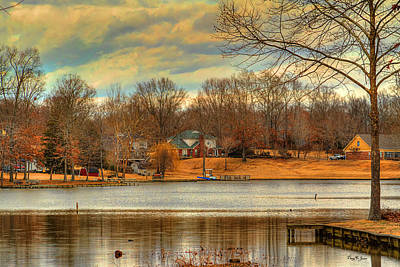 Photograph - Lakeside Winter-2 by Barry Jones