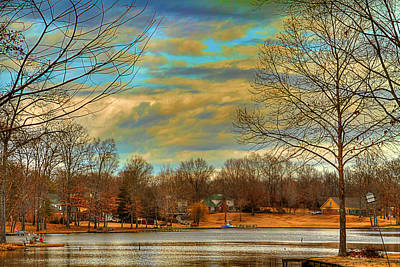 Photograph - Lakeside Winter by Barry Jones