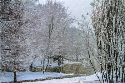Photograph - Lakeside Winter - Landscape Photography by Barry Jones