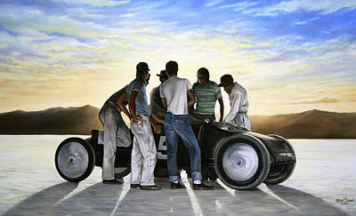 Cars Wall Art - Painting - Lakester At Dawn by Ruben Duran