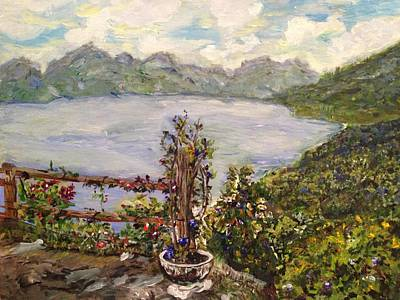 Art Print featuring the painting Lakeview by Belinda Low
