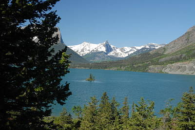 Lakeview In Glacier National Park Art Print by Larry Moloney