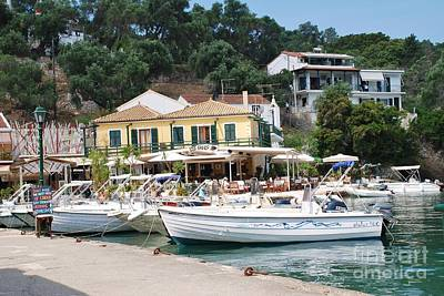 Lakka Harbour On Paxos Art Print
