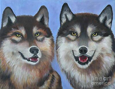 Painting - Lakota And Arapaho by Lora Duguay