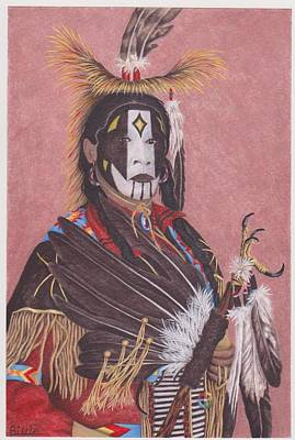 Lakota Indian Spirit Ceremonial Dress Art Print by Billie Bowles
