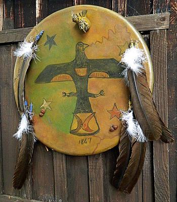 Arapaho Mixed Media - Lakota Thunderbird Shield by Native Arts Trading