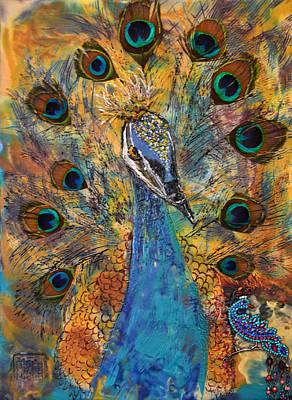 Goddess Jewellery Mixed Media - Lakshmi Peacock by Sally Clark