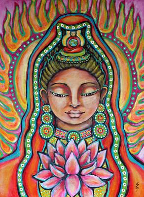 Hindu Goddess Painting - Lakshmi by Shelley Bredeson