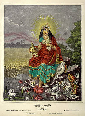 Hindu Goddess Photograph - Lakshmi The Goddess Of Fortune by British Library