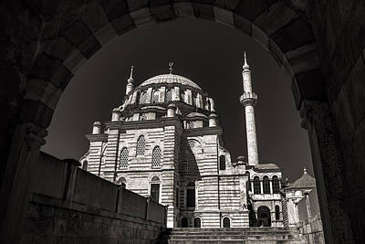 Photograph - Laleli Mosque In Istanbul Black And White by For Ninety One Days