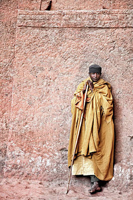 Buddhist Photograph - Lalibela Monk by Trevor Cole