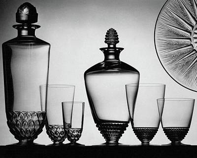 Photograph - Lalique Glassware by The 3