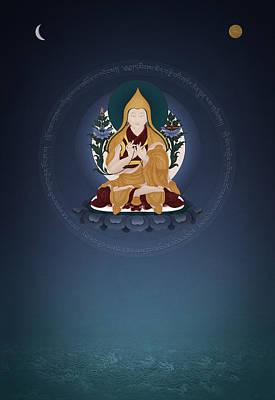 Sangha Painting - Lama Tsongkhapa - Ganden Hlagyama by Ben Christian