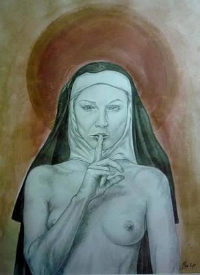 L'amante Religieuse Art Print by Didier Albo