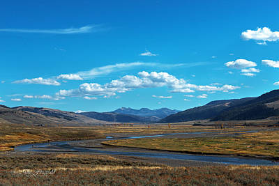 Photograph - Lamar Valley by Mike Fitzgerald