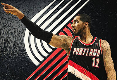 Athletic Digital Art - Lamarcus Aldridge by Taylan Apukovska