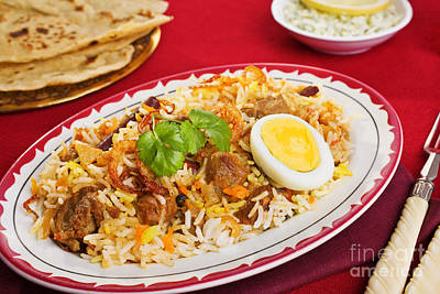 Lamb Biryani Art Print by Colin and Linda McKie