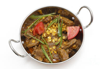 Photograph - Lamb Curry In Kadai Bowl by Paul Cowan
