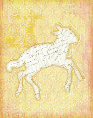Spring Painting - Lamb by Jennifer Pugh