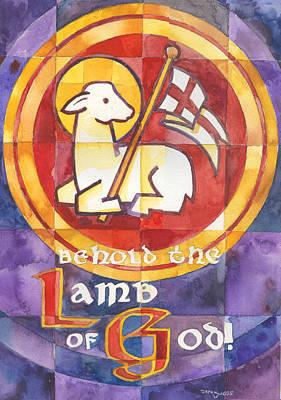 Forgiveness Painting - Lamb Of God by Mark Jennings