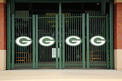 Mural Photograph - Lambeau Field - Green Bay Packers by Frank Romeo
