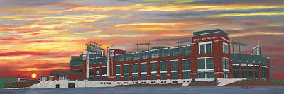 Lambeau Sunset Art Print