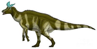 Prehistoric Digital Art - Lambeosaurus Lambei, A Hadrosaurid by Vitor Silva