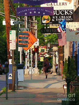 Photograph - Lambertville Busy Street by Jacqueline M Lewis