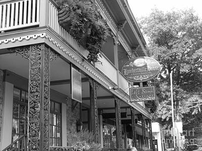 Photograph - Lambertville House - Black And White by Jacqueline M Lewis
