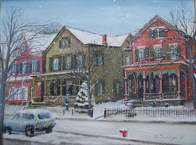 Lambertville In The Snow Art Print