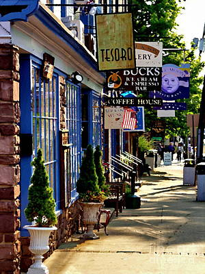 Photograph - Lambertville Main Street Abstract by Jacqueline M Lewis