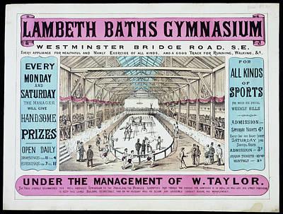 Bathe Photograph - Lambeth Baths Gymnasium by British Library