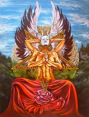 Pentagram Painting - L'ambivalence De L'ange by Didier Albo