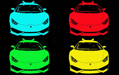 Photograph - Lambo Pop Art by J Anthony