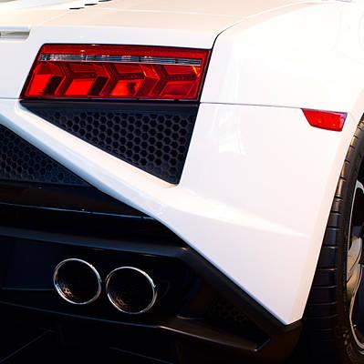 Photograph -  Lamborghini Gallardo Tail Light Pipes by Rospotte Photography