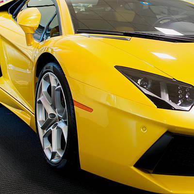 Lamborghini Photograph -  Lamborghini Huracan Lr 610 4 Front Yellow by Rospotte Photography
