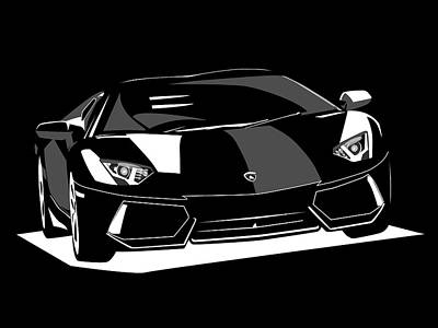 Digital Art - Lamborghini Aventador by Michael Tompsett