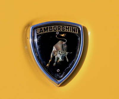 Photograph - Lamborghini Badge by Trent Mallett