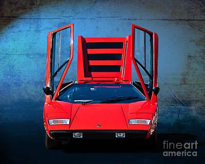 Photograph - Lamborghini Countach Lp400 by Stuart Row