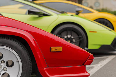 Photograph - Lamborghini Countach Nose by Scott Campbell