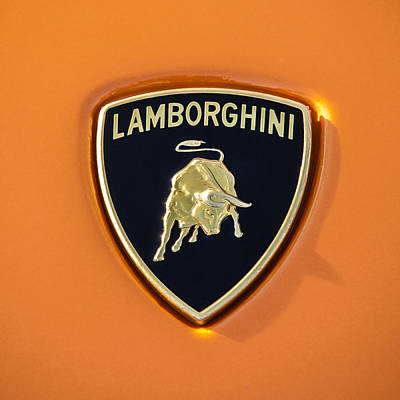 Best Car Photograph - Lamborghini Emblem -0525c55 by Jill Reger