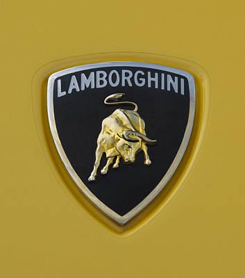 Photograph - Lamborghini Emblem 2 by Jill Reger