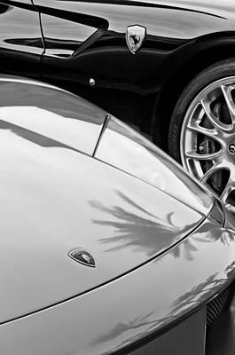 Photograph - Lamborghini - Ferraris Emblems by Jill Reger