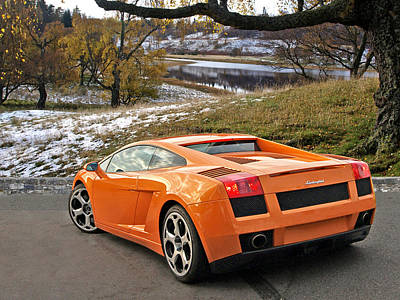 Photograph - Lamborghini Gallardo In Scotland by Gill Billington