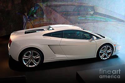 Lamborghini Gallardo Lp550-2 Side View Art Print